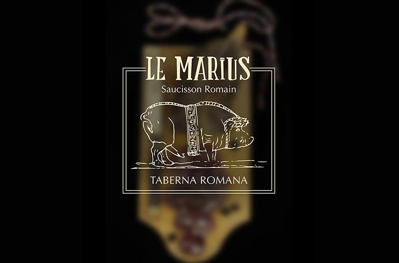 Le Marius saucisson logo Taberna Romana