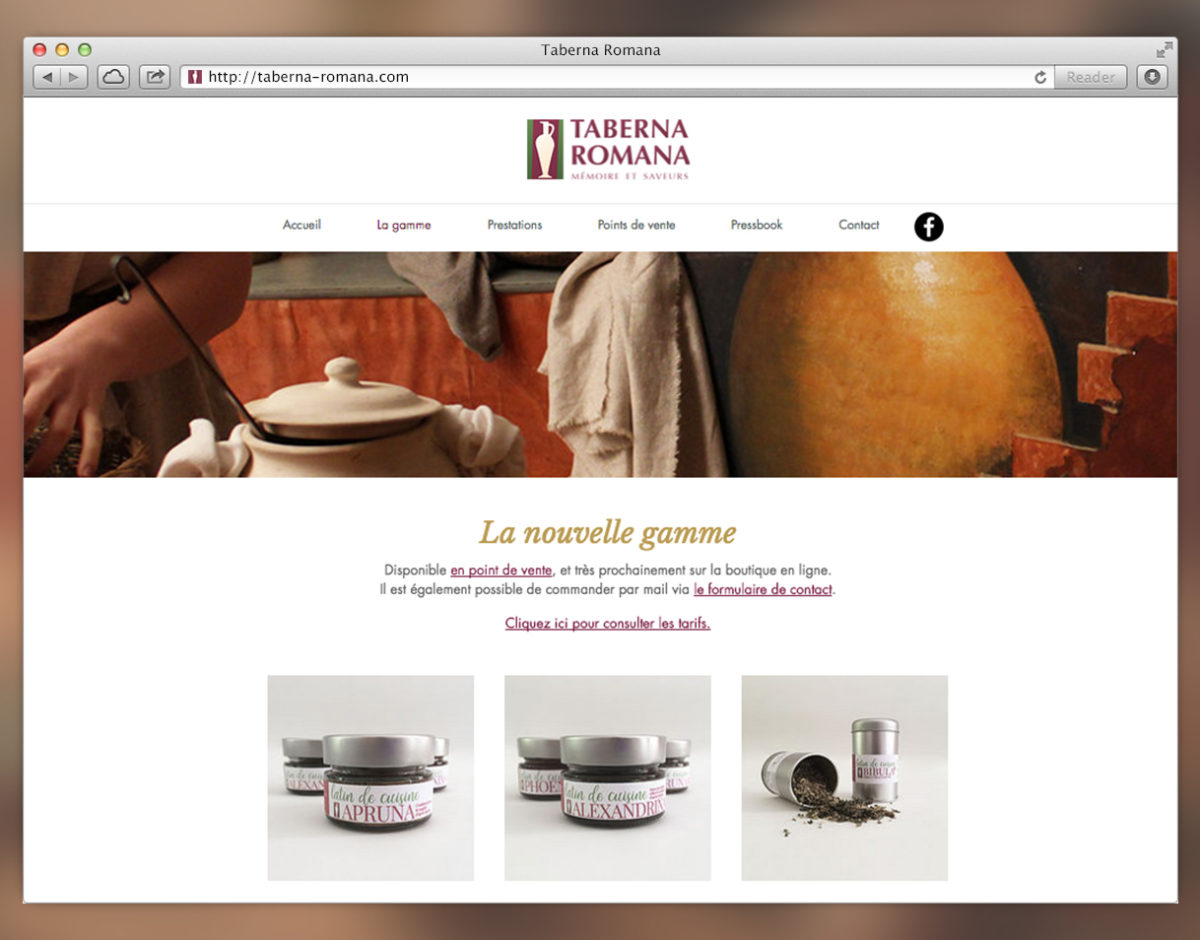 creation site CMS taberna romana gastonomie webdesign