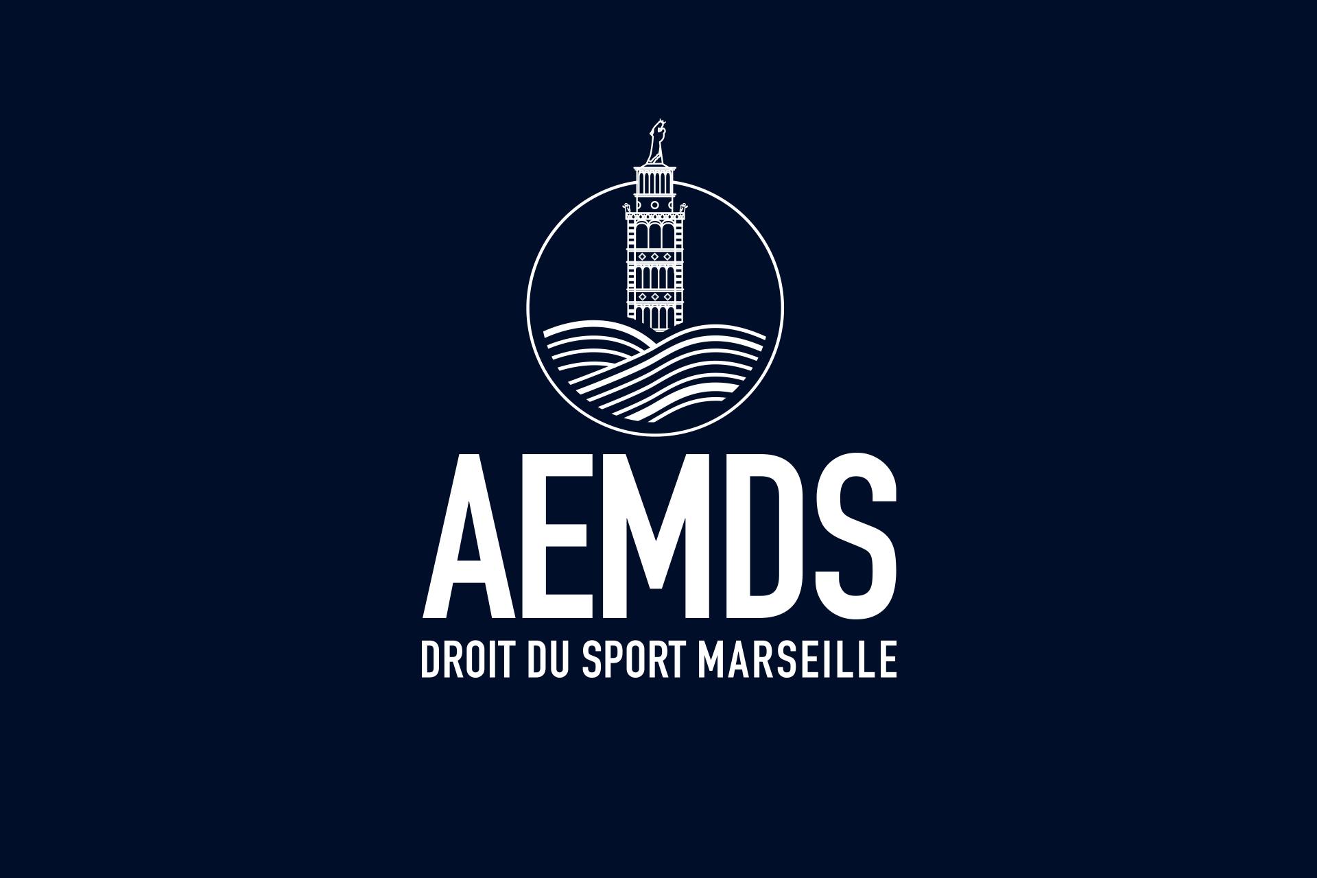 Logo AEMDS déclinaison blanc