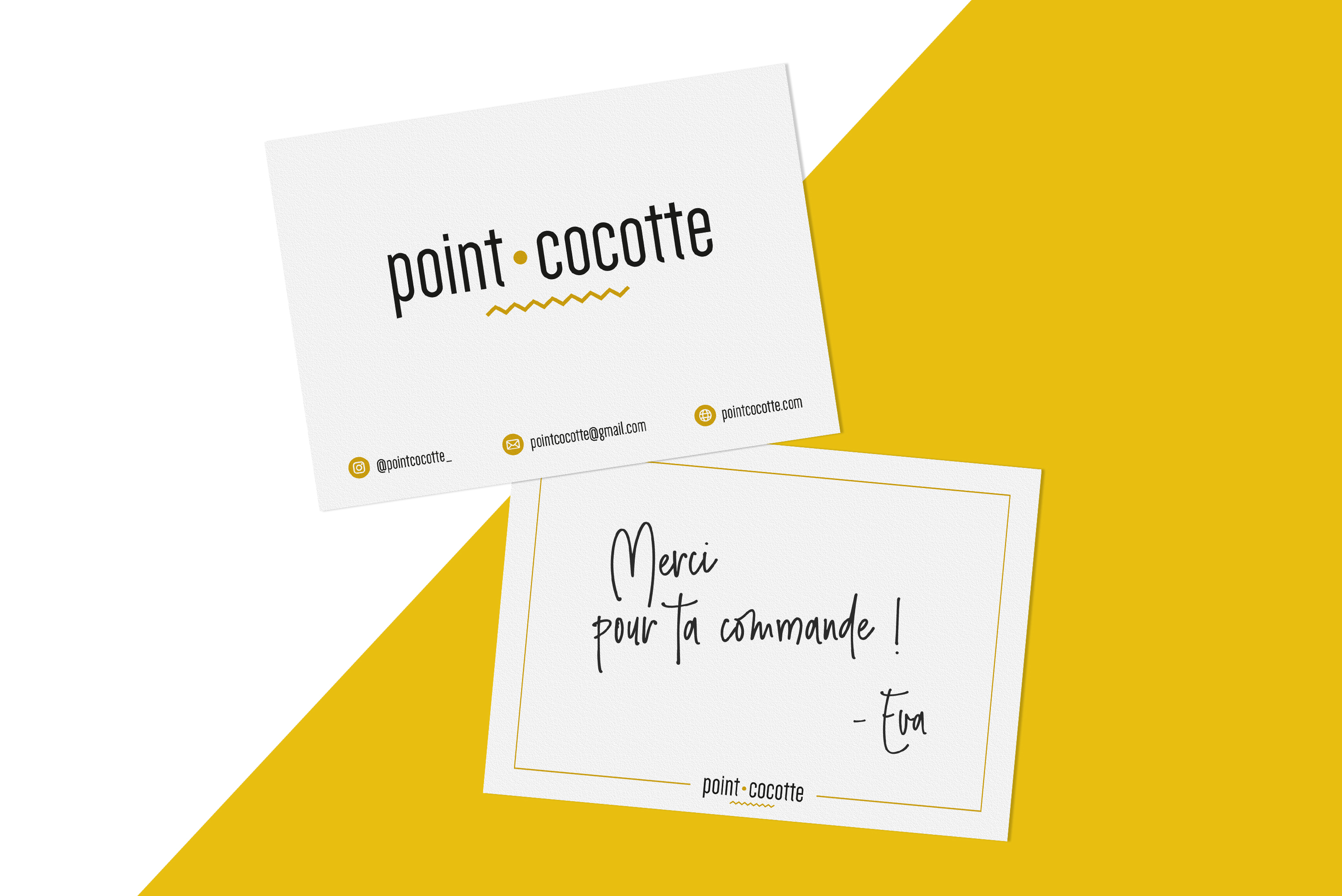 Carte remerciements Point Cocotte