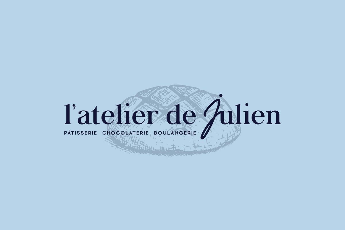 Réalisation du logo L'atelier de Julien Patisserie