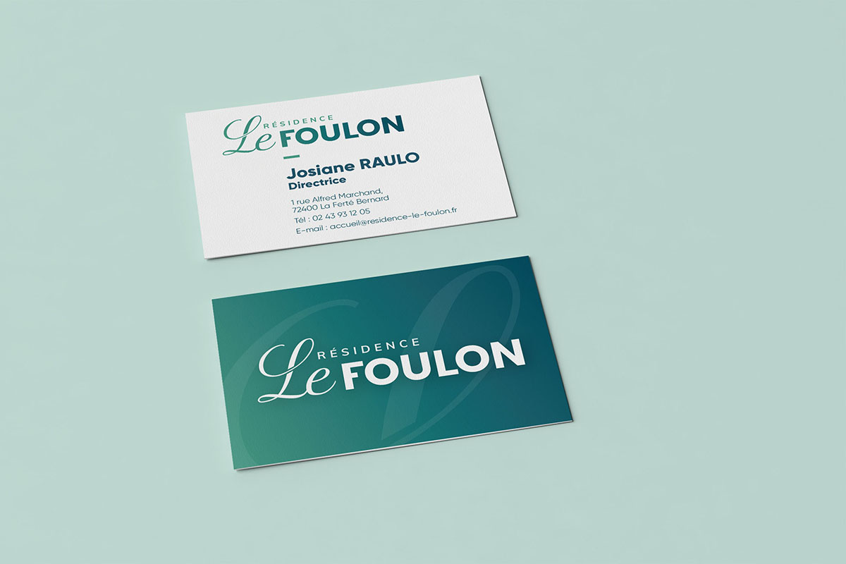 Réalisation de carte de visite Résidence Le Foulon